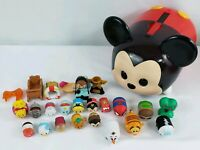 Disney Tsum Tsum Vinyl Lot 18 + Mickey Mouse Carrying Case and some accessories