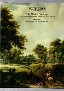 OLD MASTER PAINTINGSFROM  BR PENSION FUND SOTHEBYS CATALOGUE LONDON DEC 1994 EX