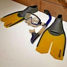 Flippers TYR Splitfin Diving Wing & Tito's Snorkeling Mask Sz 6-7 - Swanky Barn