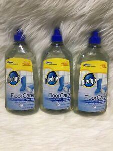 3 Pledge floor care multi-surface finish 27 fl oz each Rare Bs32