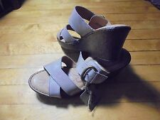 BORN Size 11 M tan brown Leather wedge Sandals slip on New Womens Shoes