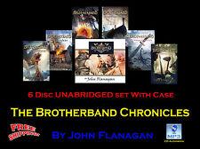 BROTHERBAND CHRONICLES ~ By John Flanagan ~ UNABRIDGED ~ MP3 6-CD Audiobook Set