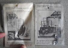 Lot of 2 Vintage HO Scale Holgate & Reynolds Lead Diesel Snow Plow NIP LOOK