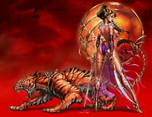Dejah Thoris VS John Carter Tyndall Lim/150 Wrap Blood Virgin Cvr Signed/Cert NM