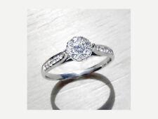 Damen Brillant Ring 0,25 ct. Brillanten Wesselton 18K Weißgold Neu Zertifikat