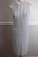 Banana Republic MadMen Ivory Blue Striped Body Con Dress Size S (DR1000