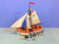 (O3740.2) playmobil Ancien bateau shooner pirates ref 3740 complet année 1991