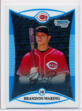 2008 BOWMAN CHROME PROSPECTS #BCP110 BRANDON WARING RC - CINCINNATI REDS