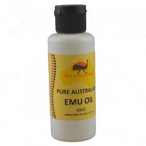 100% Pure Australien Huile D'émeu Peau/Cheveux/Muscles/Articulations 60 ml