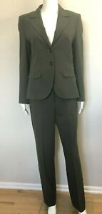 ESCADA 2-Piece Olive Green Virgin Wool Pants Suit, sz 34/36