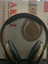 Cuffia Stereo Bluetooth Pieghevole Akai BTH05 Dorata Color Oro - con Microfono