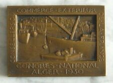 MEDAILLE EN BRONZE - CONGRES NATIONAL ALGER 1930