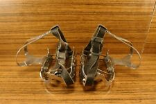 1970's pedals NOTARIO for racing bike made in Spain + Christophe Toe Clips