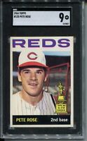 1964 Topps Baseball Card #125 Pete Rose All-Star Rookie Graded SGC MINT 9