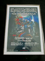 IRON MAIDEN : THE BOOK OF SOULS WORLD TOUR 2016  : A4  REPO POSTER