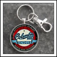 Columbia  Bicycle Emblem Badge  Photo Keychain  Gift 🎁