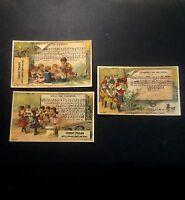 3 Chromos Poulain 1900  Doré Enfant Les Contines Le Furet Sur Le Pont D'Avignon
