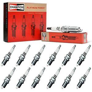 12 Champion Platinum Spark Plugs Set for ROLLS-ROYCE PARK WARD 2002 V12-5.4L