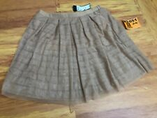 ed7986879 New BCBG Maxazria Runway Truffle/Tan Lace Ruffle Ballet Tulle Skirt SMALL S ❄️N3