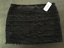NWT Forever 21 Black Tiered Lace Skirt Medium M