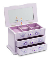 Lilac Ballet Dance Wooden Jewellery Box By Katz Christmas Birthday Present JB02