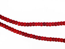Red coral rondelles 4x6mm. Natural gemstone beads. Full strand