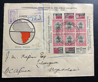 1936 Johannesburg South Africa First Day Cover FDC JIPEX Exhibition Block