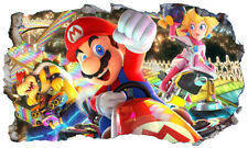 Super Mario Kart Wall Smash Crack Self Adhesive Wall Sticker Decal Print Poster