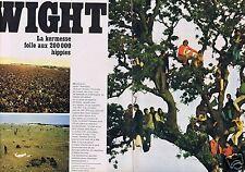 Coupure de presse Clipping 1969 Festival de l'Ile de Wight  (6 pag) les hippies