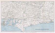 BOGNOR REGIS, CHICHESTER & District - Vintage Folding Map 1934
