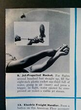 DEC 1955 MAGAZINE PAGE- JET-PROPELLED WATER ROCKET, PUMP IT UP!