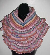 Multi Colored Infinity Oversized Ruffled/Pleated Scarf #121...NEW IN PACKAGE