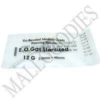 T005 Sterilized Body Piercing Hollow Needles 12G Gauge 2mm PICK YOUR QTY