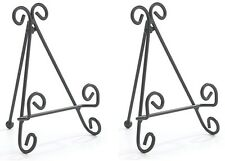 ~~TWO (2) METAL SCROLL DESIGN EASEL STAND~SMALL PLATE DISPLAY~~