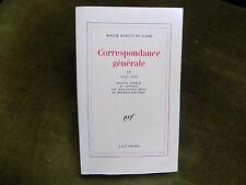 CORRESPONDANCE GENERALE IV 1926-1929 Roger Martin du Gard
