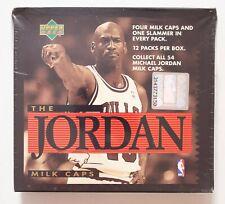 RARE MINI SEALED BOX Michael Jordan Milk Caps, 1995 Upper Deck Pogs, 12 Packs