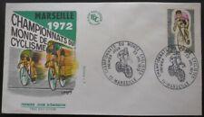 France FDC Championnats du monde CYCLISTE 22-07-1972 Marseille