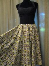 Girls from Savoy Anthropologie black halter yellow feathers dress 50s retro 8
