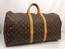Auth Louis Vuitton Monogram Keepall 55 Travel Bag 7E300360N