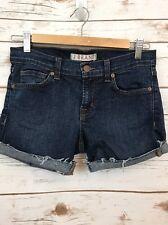 J Brand Sz 25 Blue Raw Hem Shorts *3872