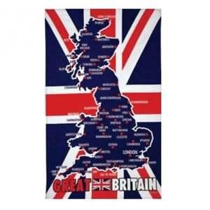 Great Britain Map Tea Towel