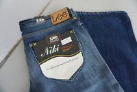 LEE Niki Damen Jeans stretch Hose 28/33 W28 L33 stonewashed darkblue NEU ad32