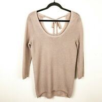 LC Lauren Conrad Light Sweater w Back Ties Size XS