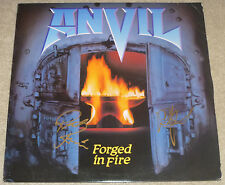 "Anvil Signed ""Forged In Fire"" Record Album LP, Steve ""Lips"" Kudlow & Robb Reiner"
