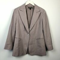 Lafayette 148 Size 6 Small Lavender Striped Overzized Boyfriend Blazer Career