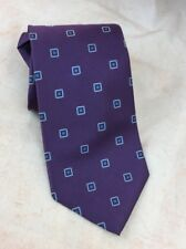 Brooks Brothers 346 Purple Geometric Neck Tie 100% Silk Resistant New