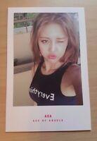 AOA HyeJeong Good Luck official photo card ( weekend  ver. )