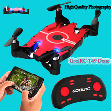 GoolRc T49 Mini Rc Drone with 720P Camera 6-Axis Gyro Wifi Fpv Selfie Drone Fold