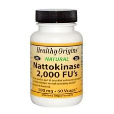 NATTOKINASE :100mg(2000FUs) x 60 Vegicaps, Healthy Origins, 24Hr Dispatch