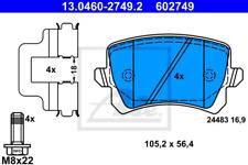 Bremsbelagsatz, Scheibenbremse für Bremsanlage Hinterachse ATE 13.0460-2749.2